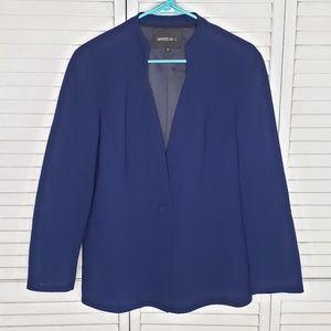 Lafayette 148 NY 100% Virgin Wool 1-Button Blazer